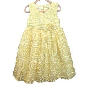 American Princess Floral Formal Dress Yellow sz 4T